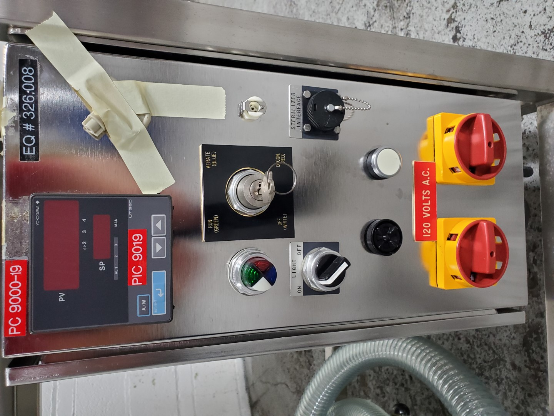 "48"" Walker Transfer Isolator Glovebox, (2) Glove Ports, 316L S/S"