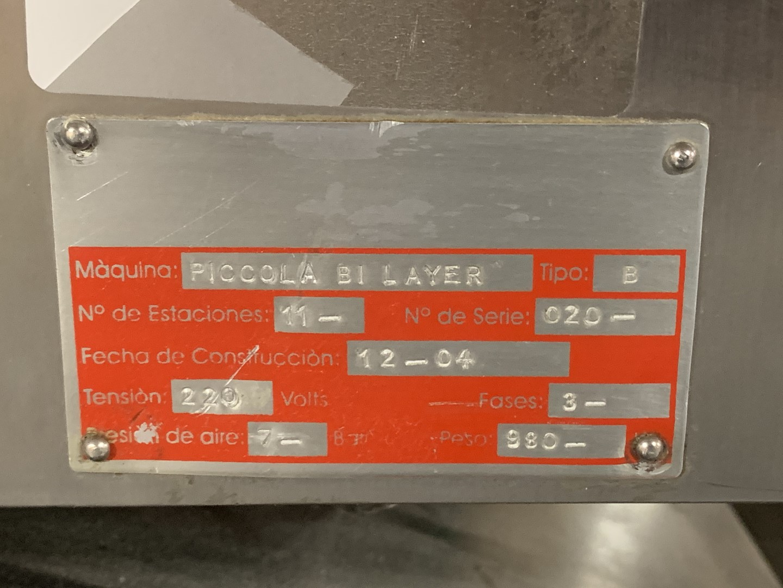 SMI Piccola Bilayer Tablet Press, 14 station