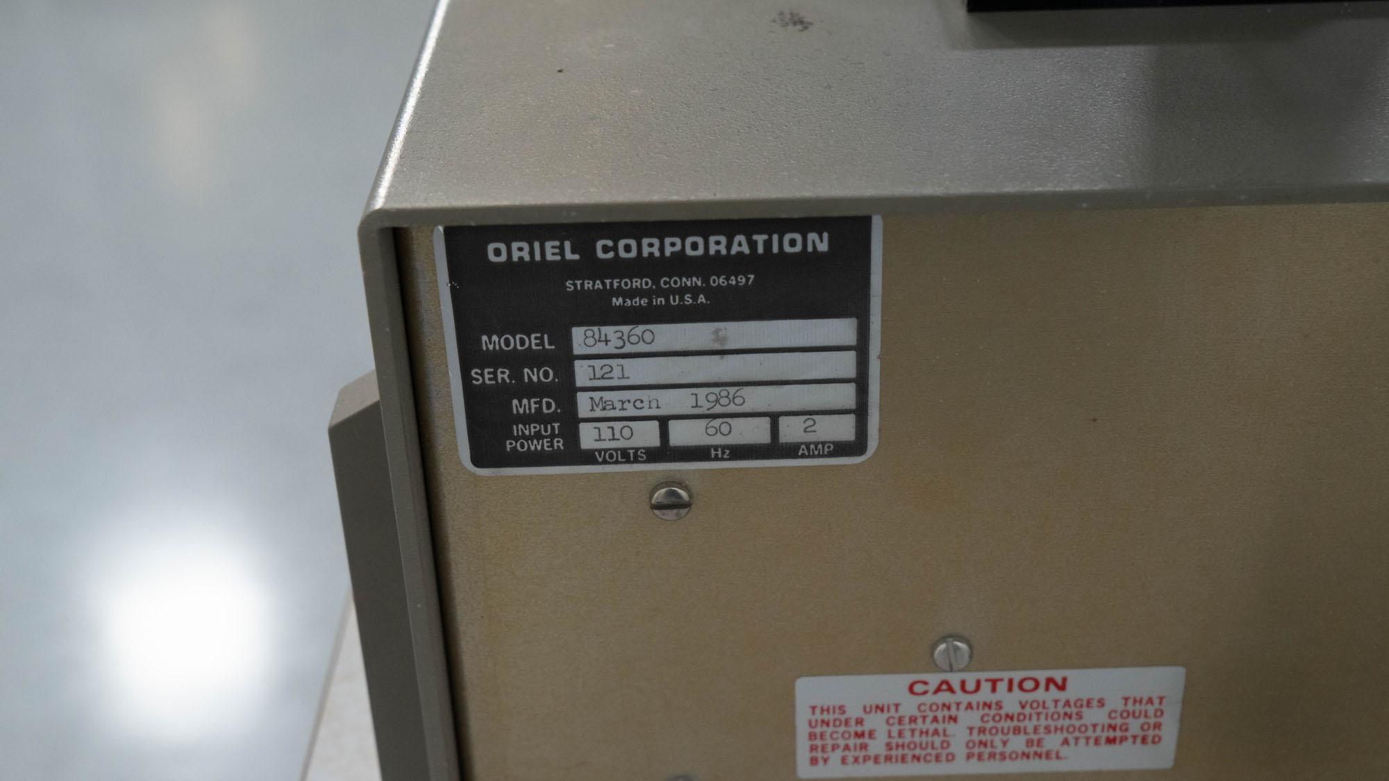 Oriel Exposure System