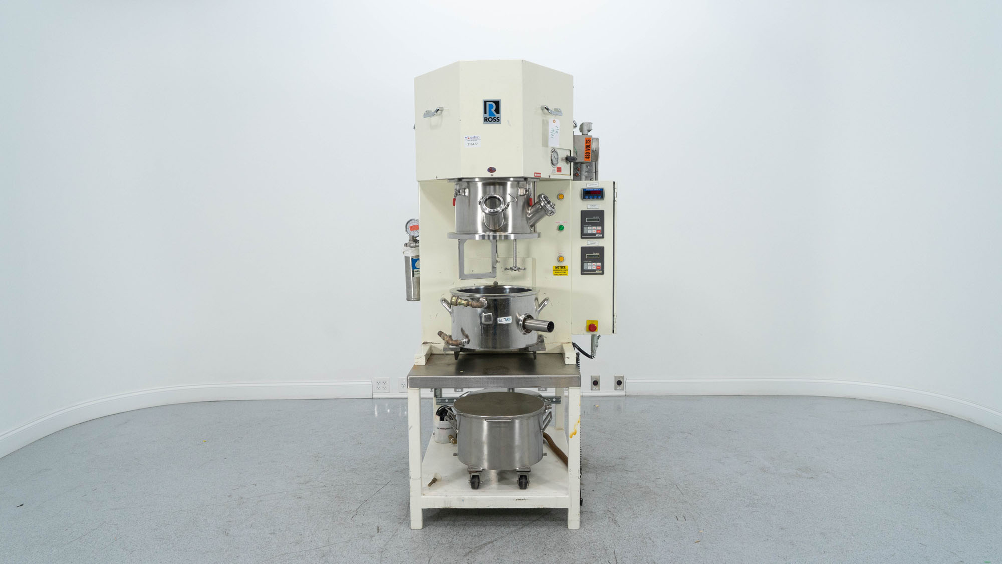 4 Gal Ross Planetary Mixer, Model PDM-4 With Press, S/S