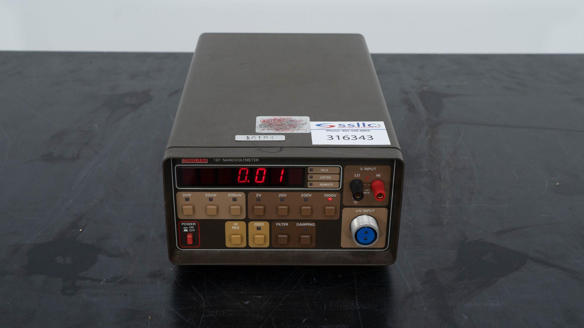 Keithley Nanaovoltmeter, Model 181