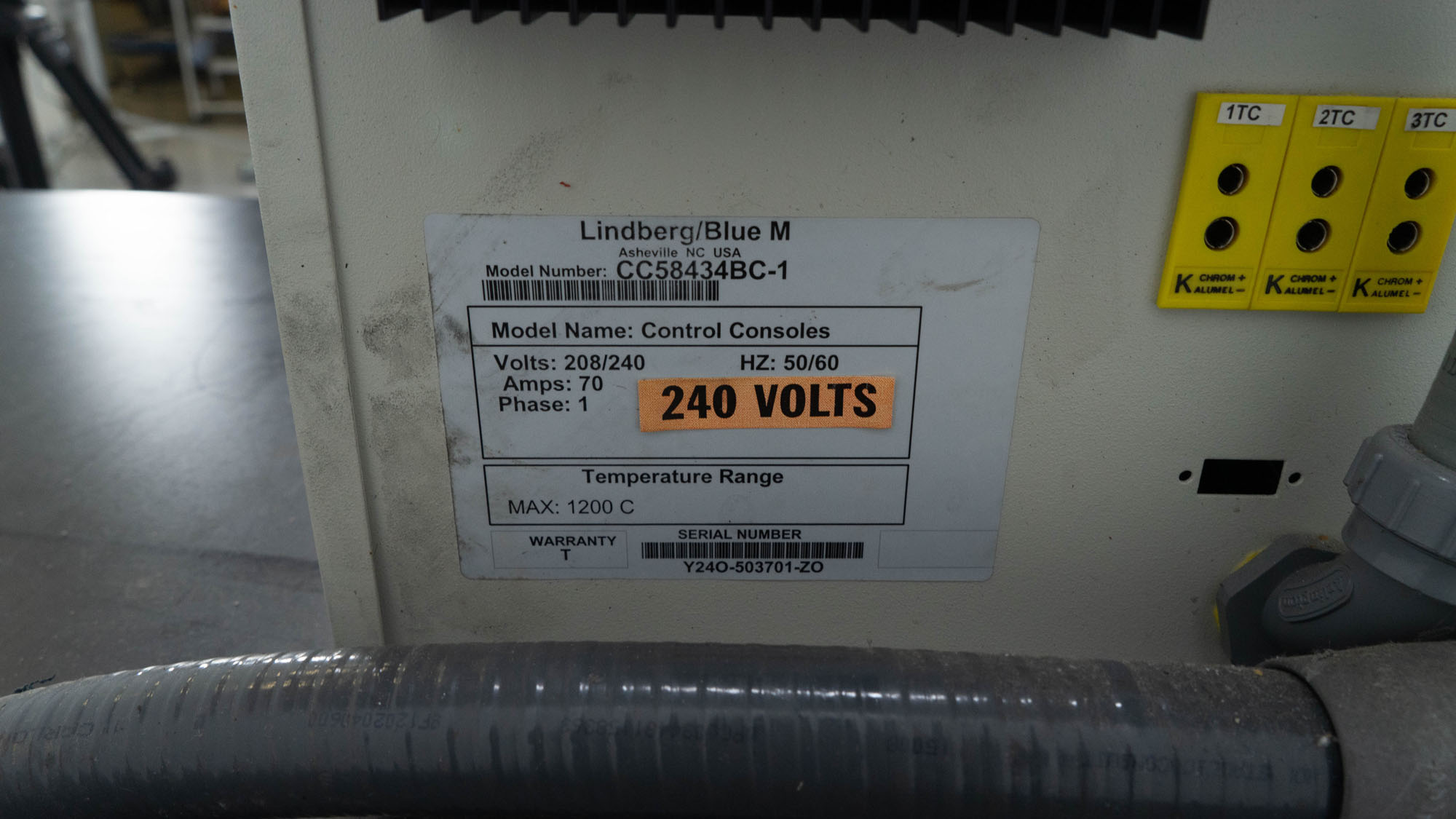 Lindberg/Blue M Control Console, Model CC58434BC-1
