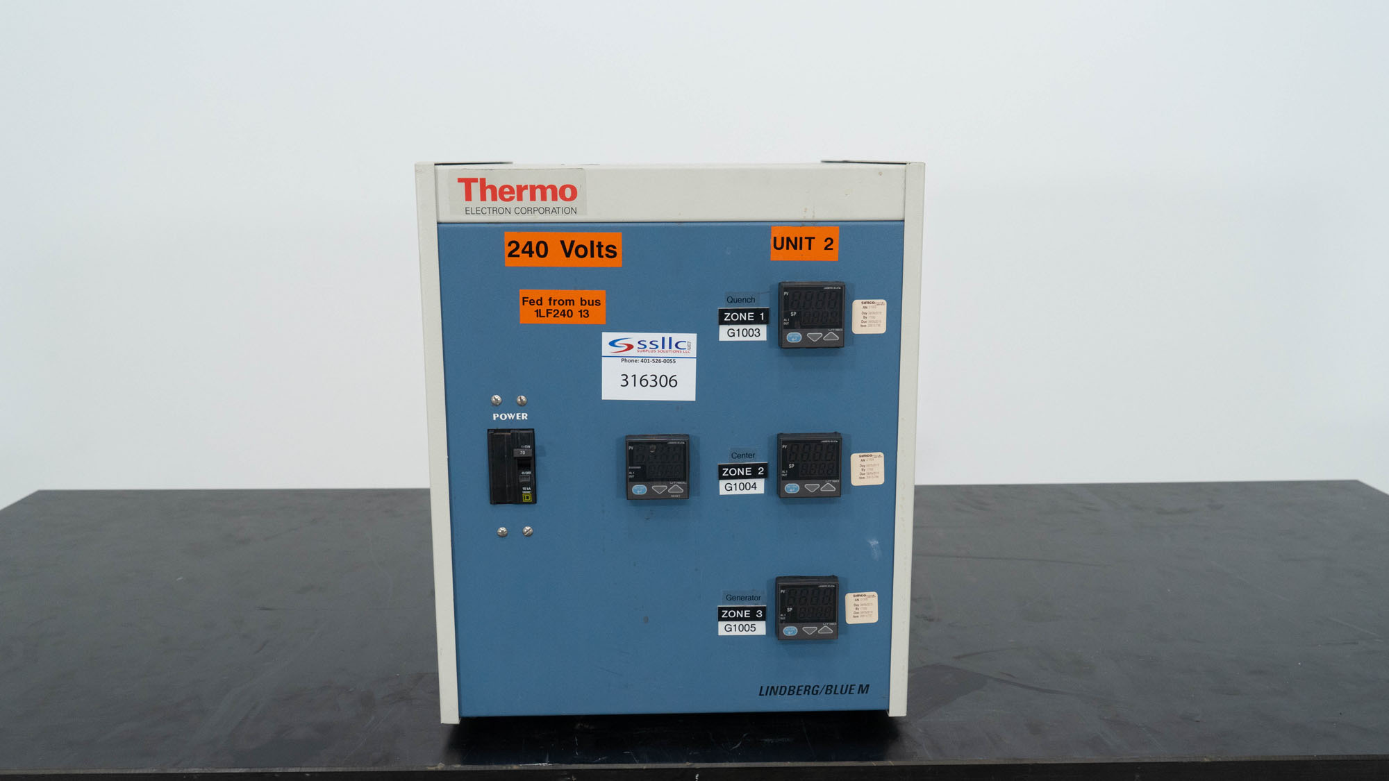 Lindberg/Blue M Control Console, Model CC58434BCOMC-1