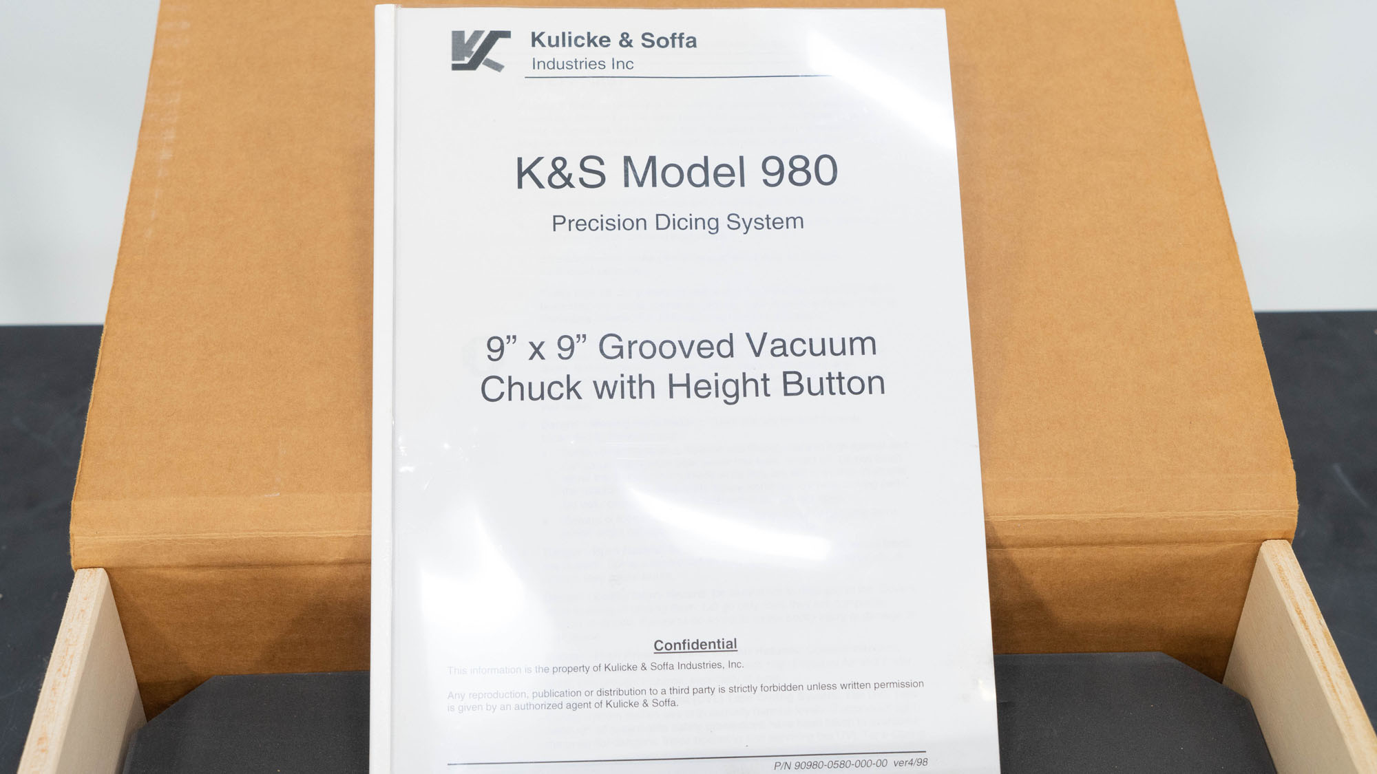 "9"" Kulicke & Soff Vacuum Chuck, Model 980"