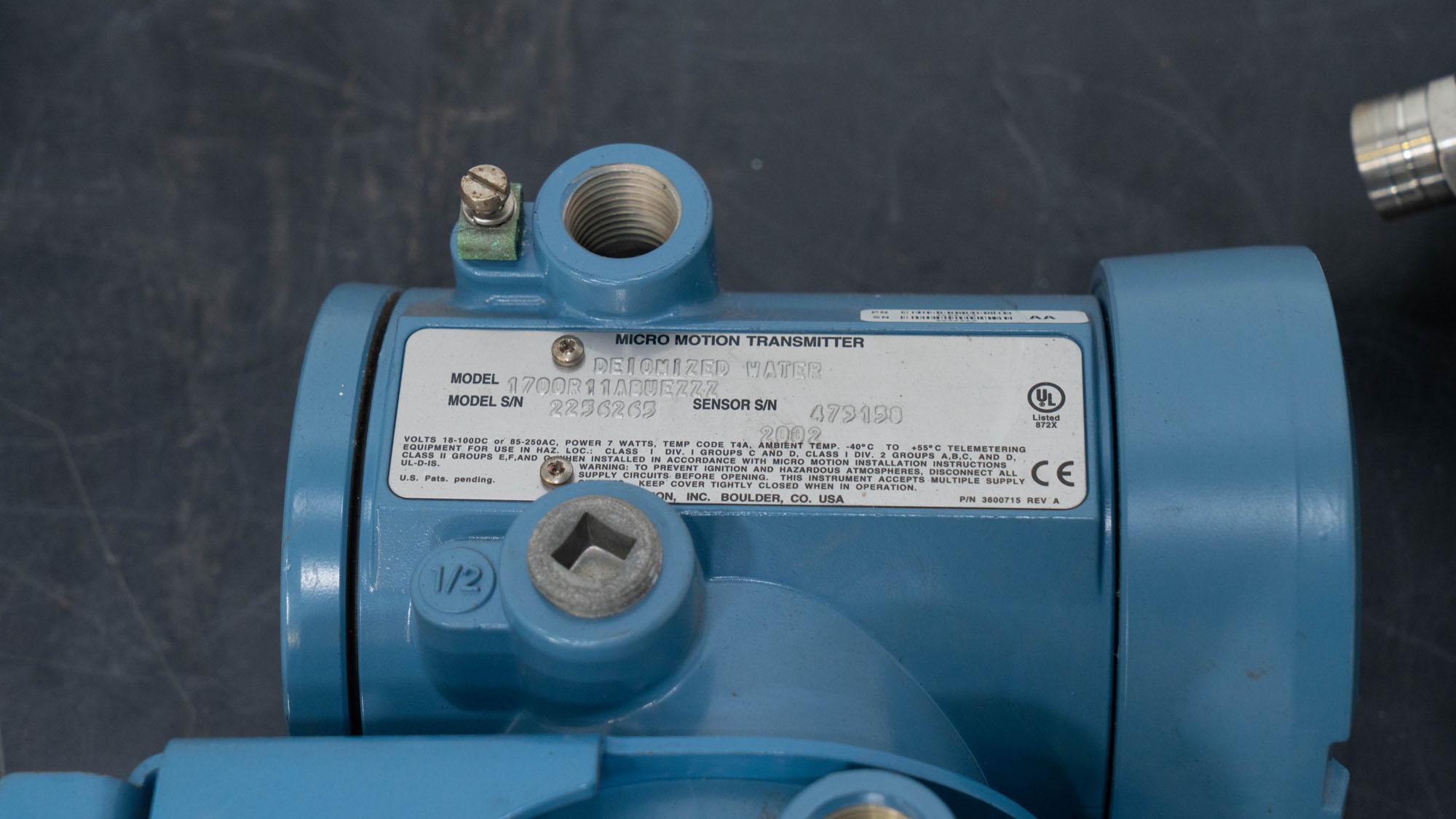 Micro Motion Flow Meter, (4)