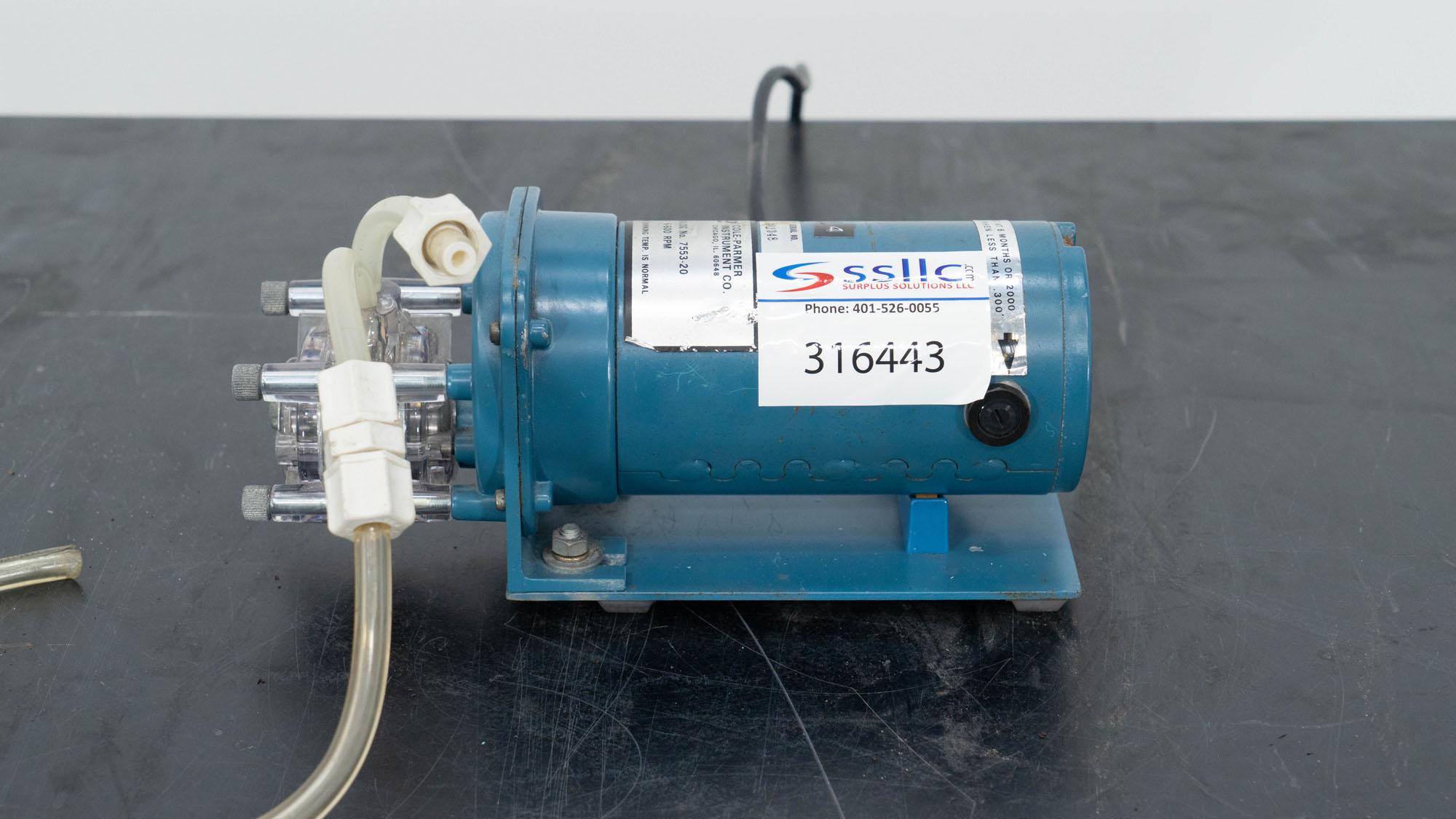 Cole Palmer Peristaltic Pump, Model 7553-20