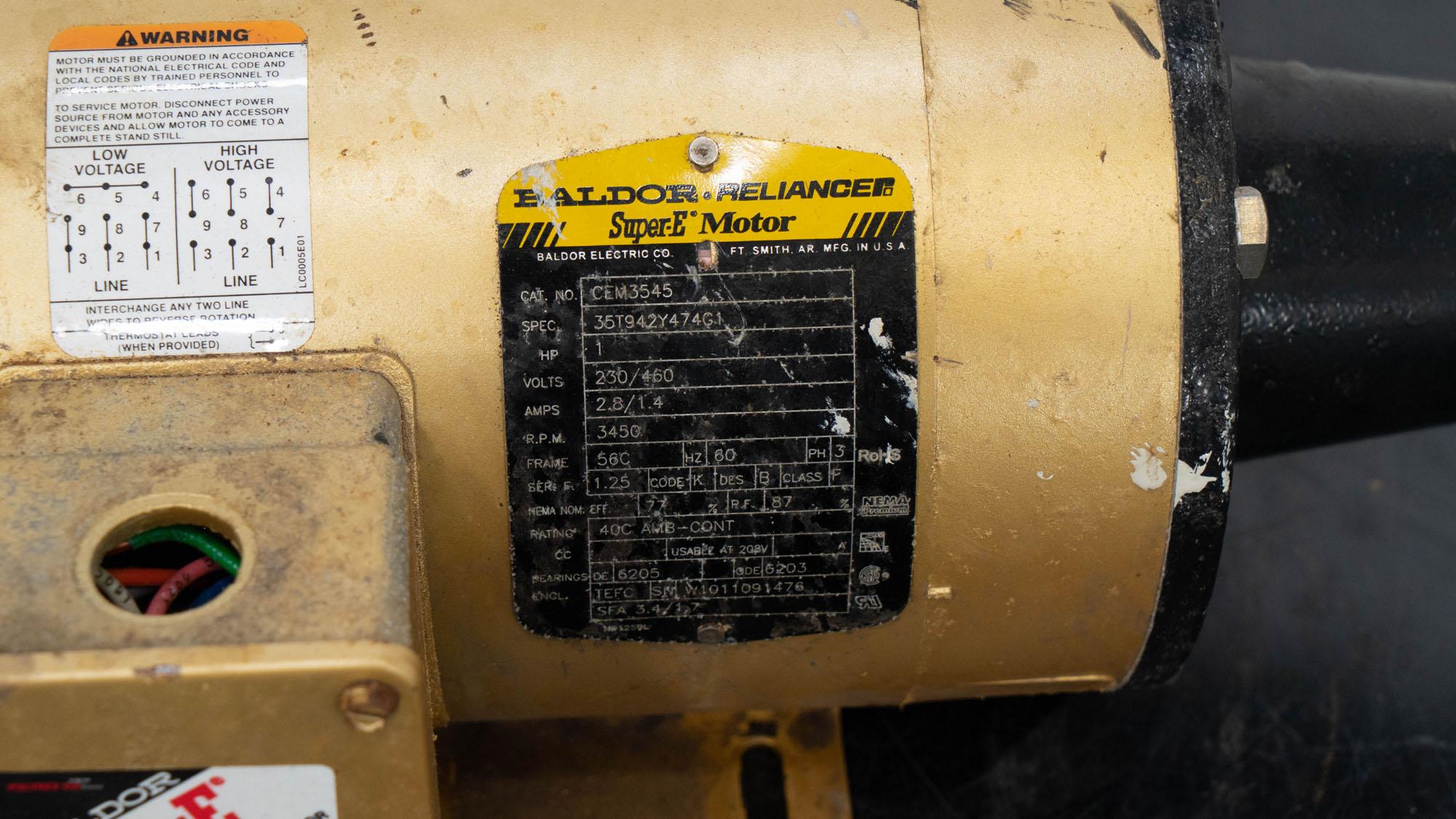 1 HP Baldor Motor