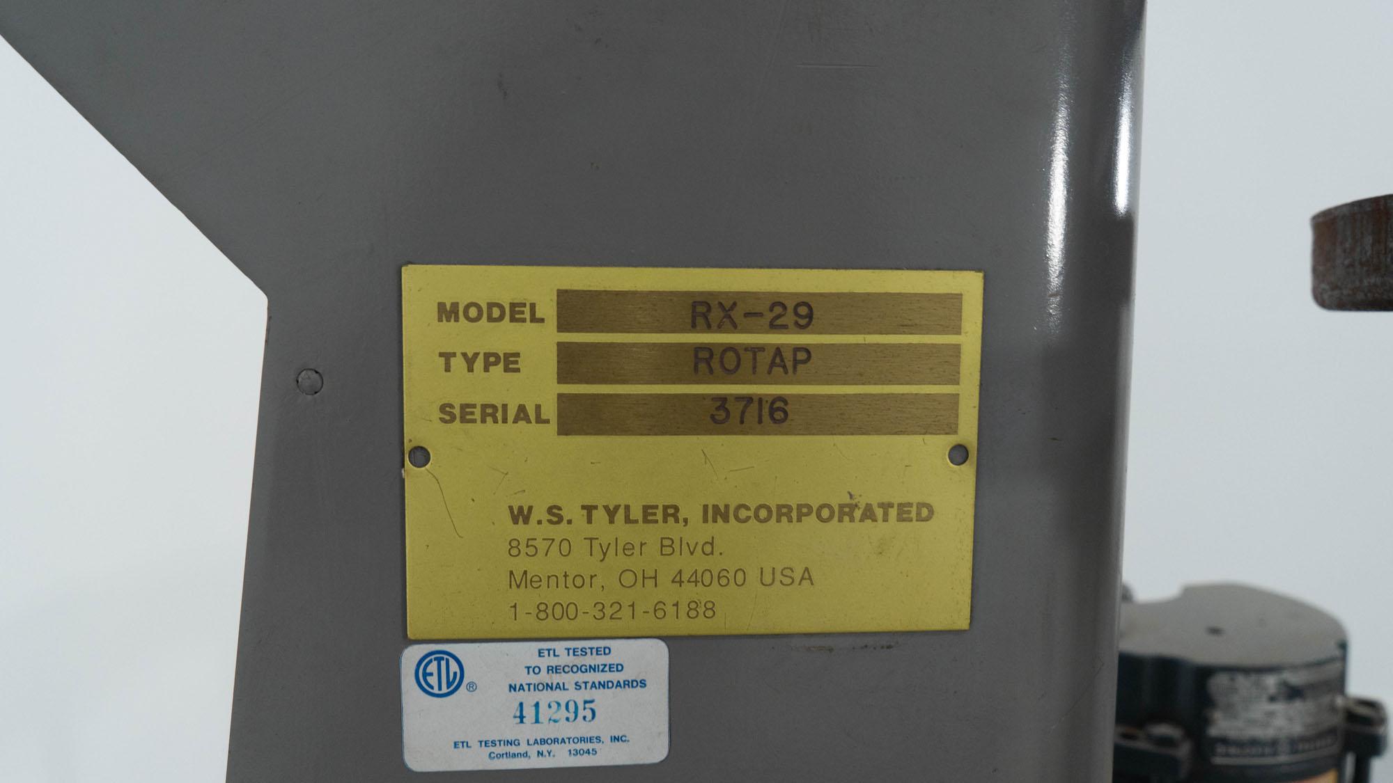 "8"" Rotap Sieve, Model RX-29"