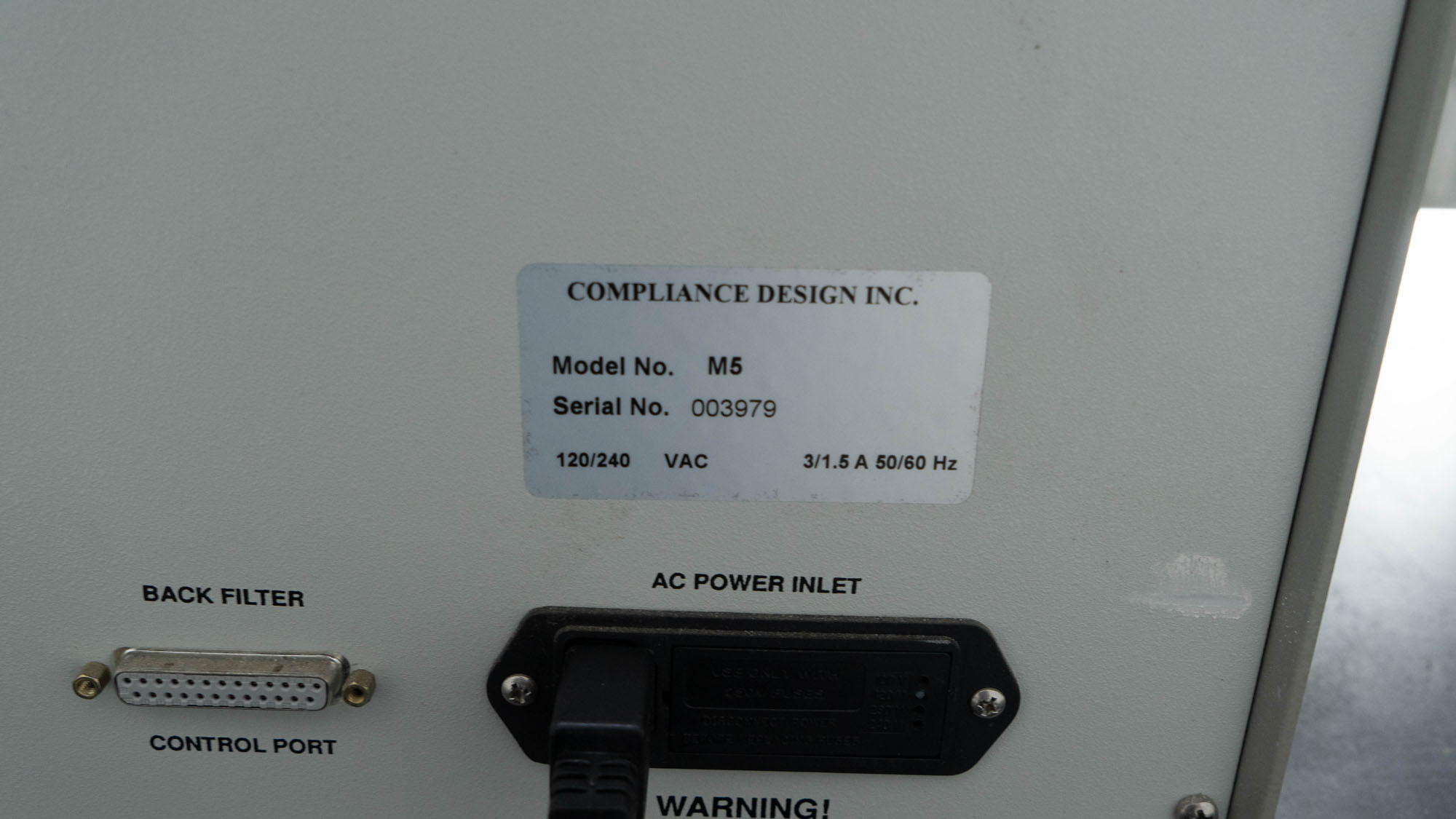 Compliance Design Universeral Surge Generator, Model M5