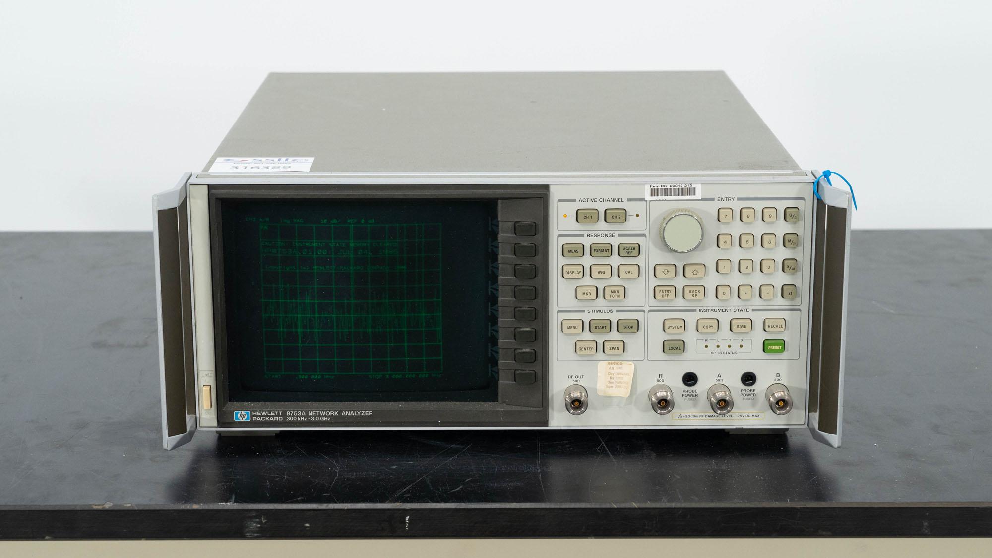 Hewlett Packard Network Analyzer, Model 8753A