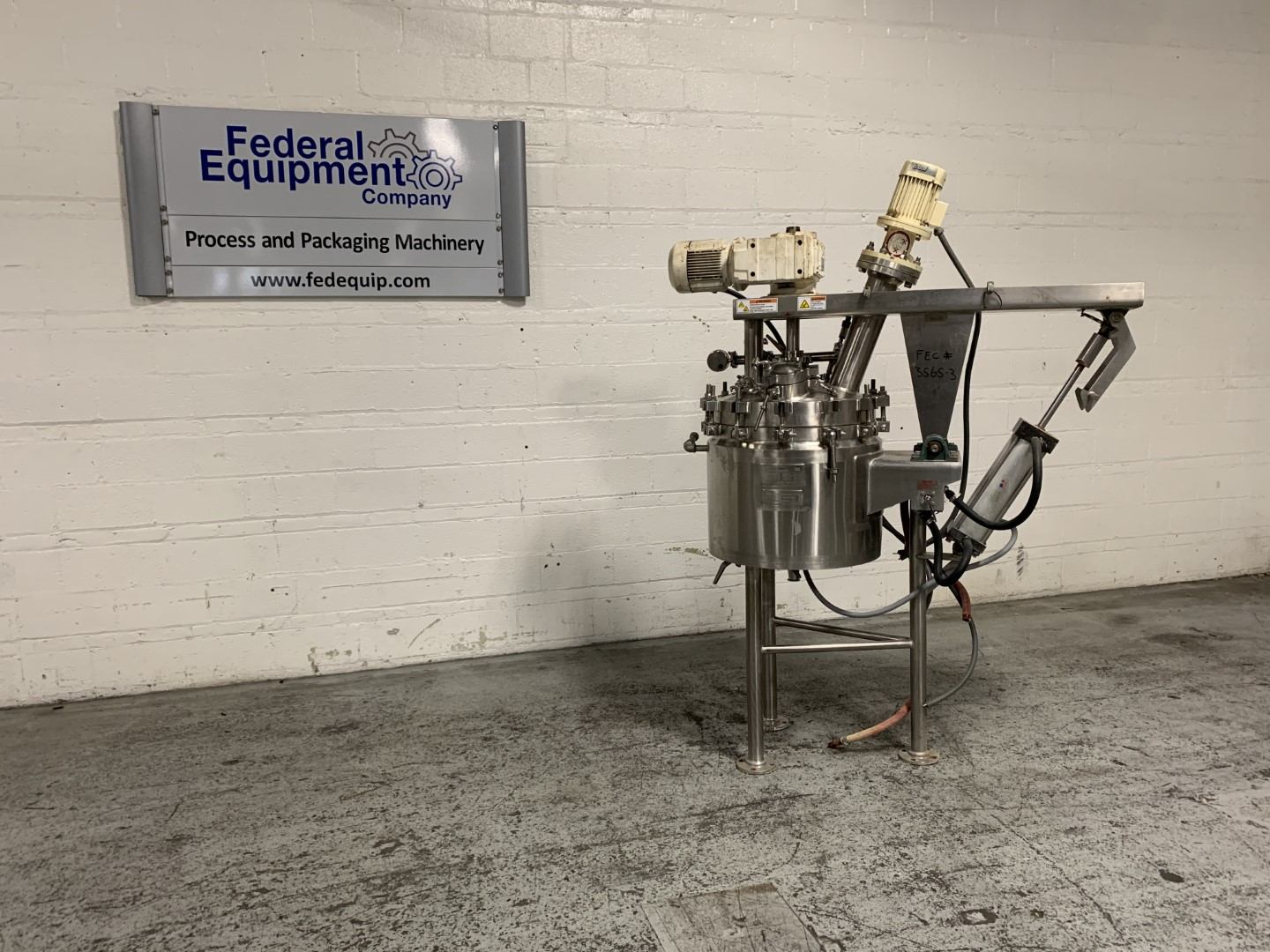 20 Gal Lee Twin Motion Reactor, 316 S/S, 150/150#