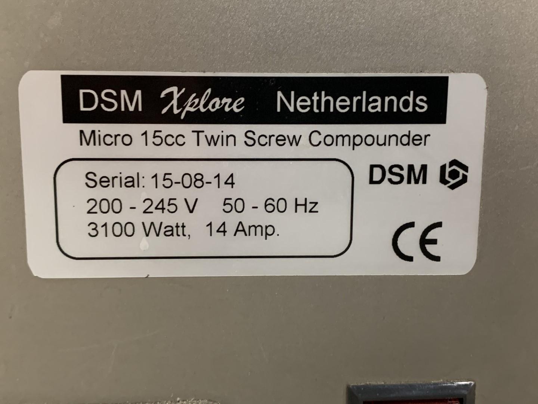 DSM Xplore Conical Twin Screw Extruder, Model MC15