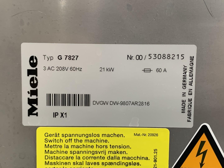 Miele Professional G-7827 Large Capacity Laboratory Glassware Washer