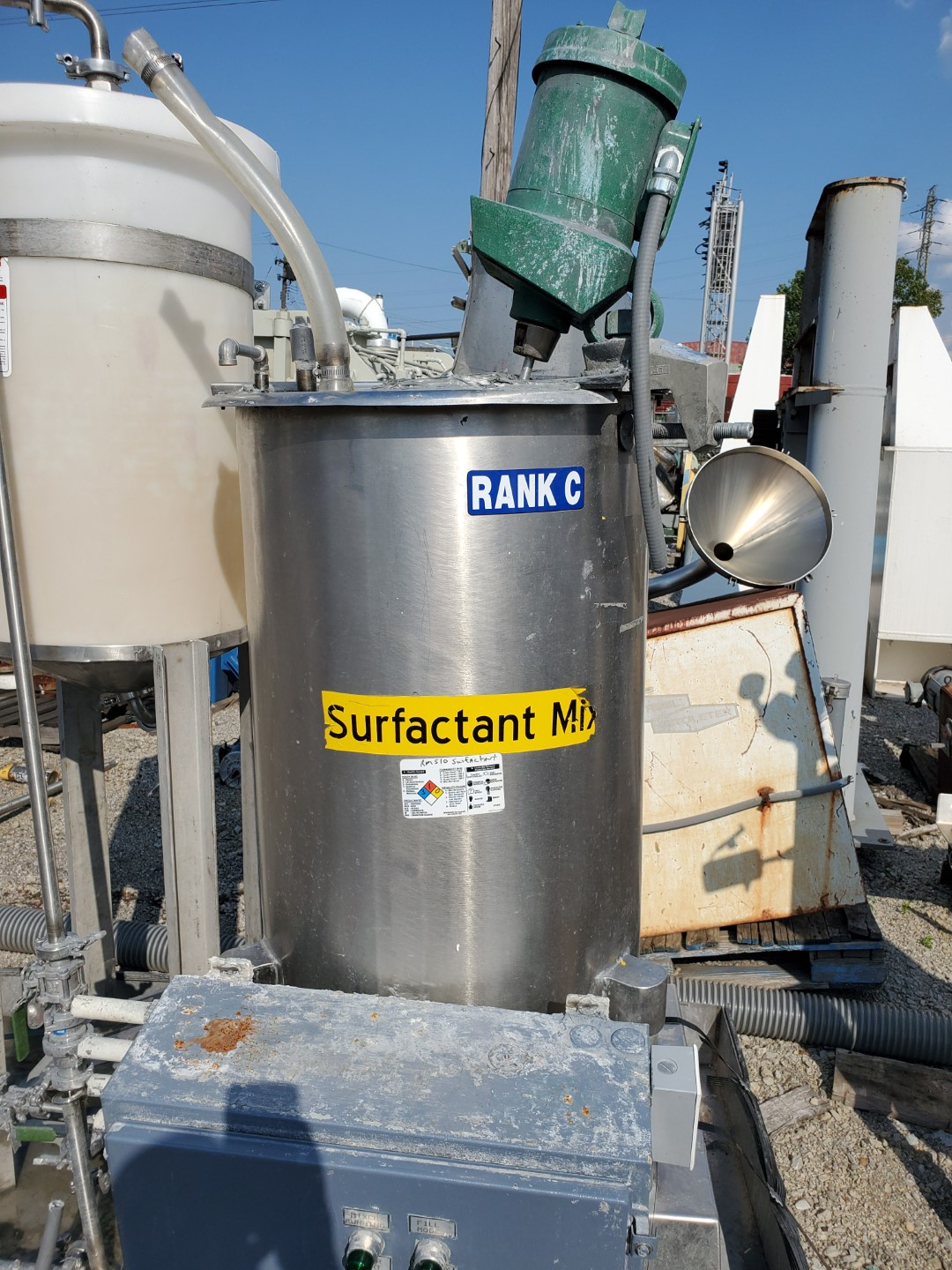 60 Gal Stainless Steel Mix Tank, .43 HP