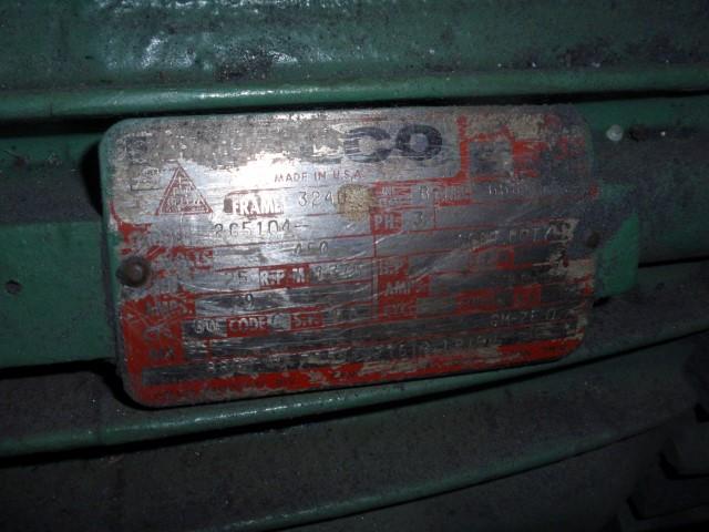 25 HP GARDNER DENVER ROTARY LOBE BLOWER, MODEL GGDDADA
