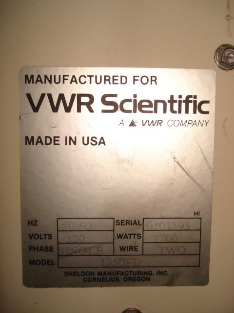 VWR 1350 FD OVEN, 1700W