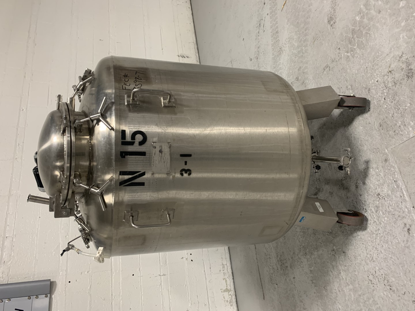750 Liter Grand Lab Agitated Receiver Tank, S/S, 30#