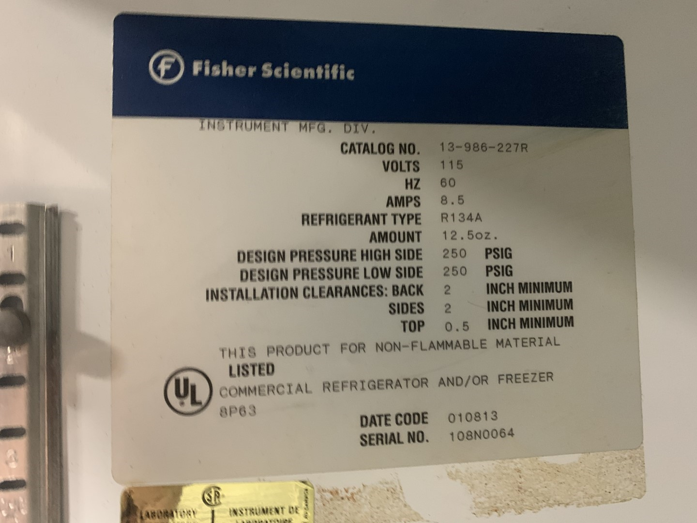Fisher Scientific Model Isotemp Fridge