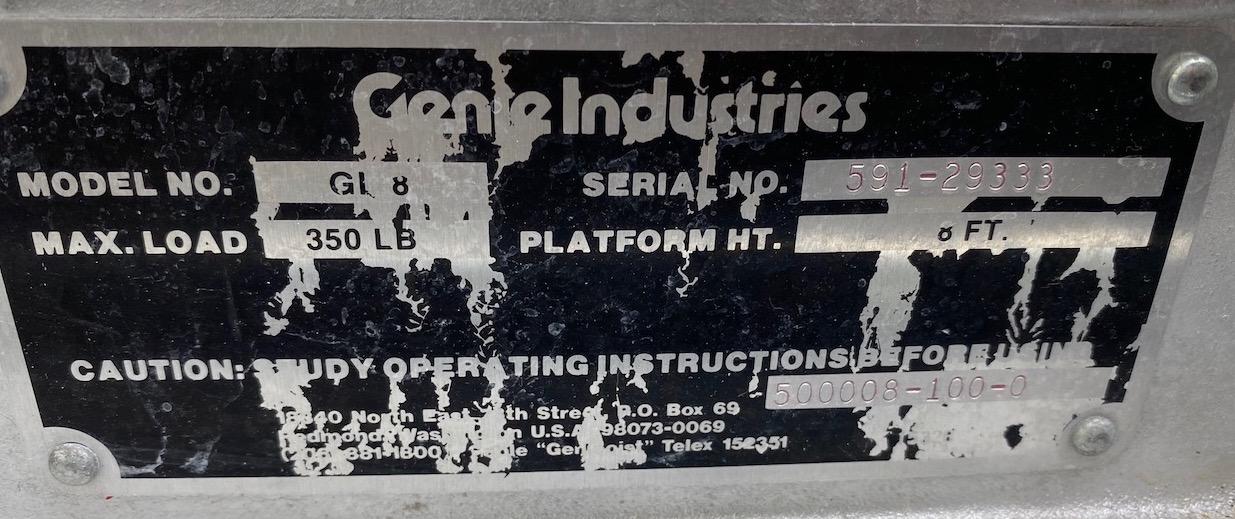 Genie Lift, Model GI8