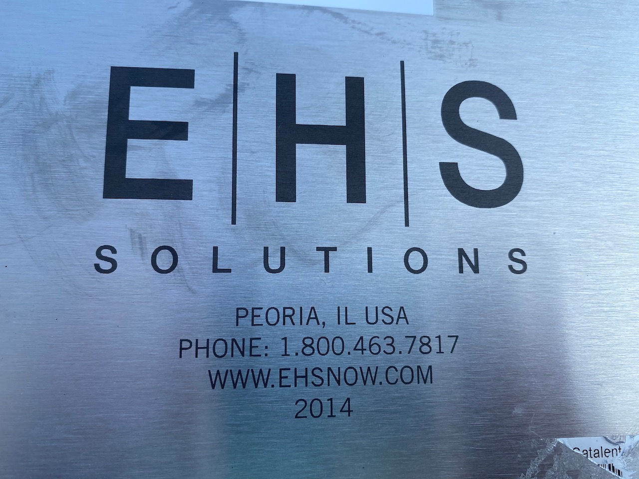 E/H/S Solutions Stainless Steel Drum Cart