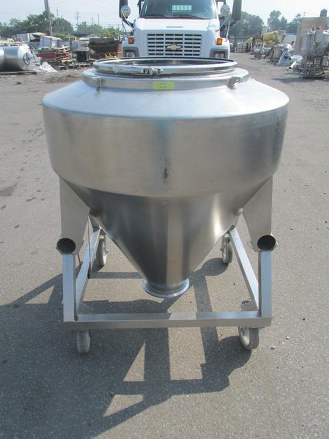 600 Liters LB Bohle bin, S/S