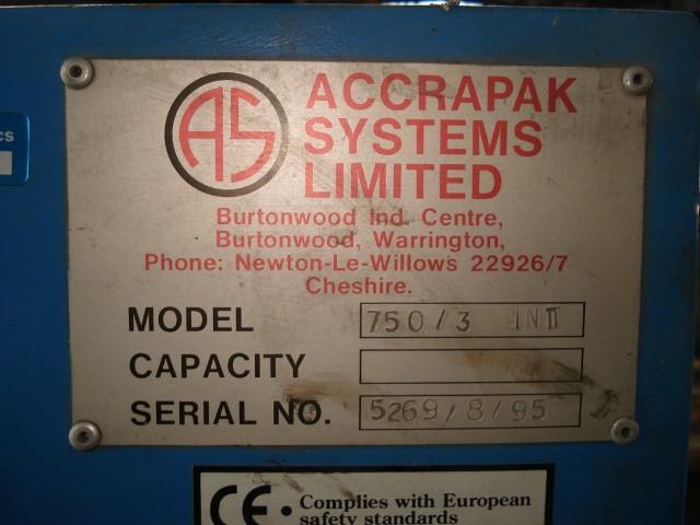 ACCRAPAK SYSTEMS MODEL 750/3 PELLETIZER