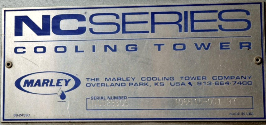 500 TON MARLEY COOLING TOWER, MODEL NC5233GS