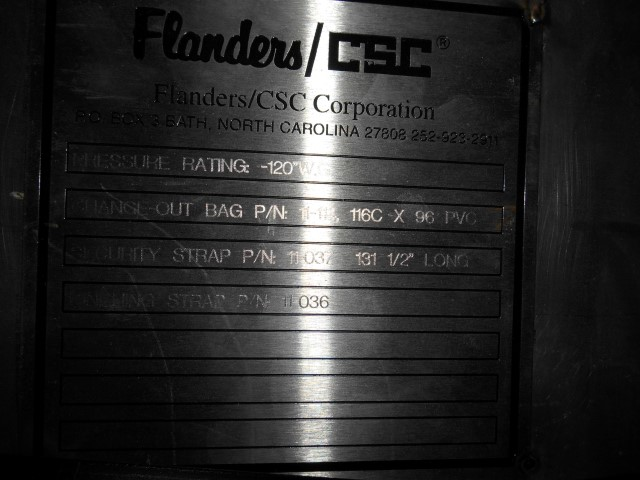 150 SQ FT FLANDERS DUST COLLECTOR, S/S
