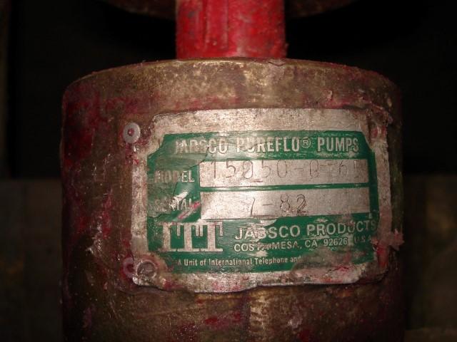 "1.5"" JABSCO PURFLO PUMP, S/S, 2 HP"