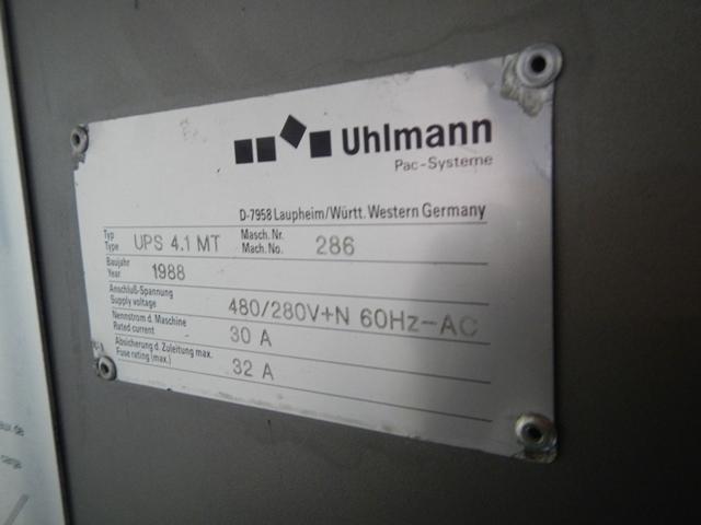 Uhlmann Blister Packaging Machine, Model UPS4.1MT