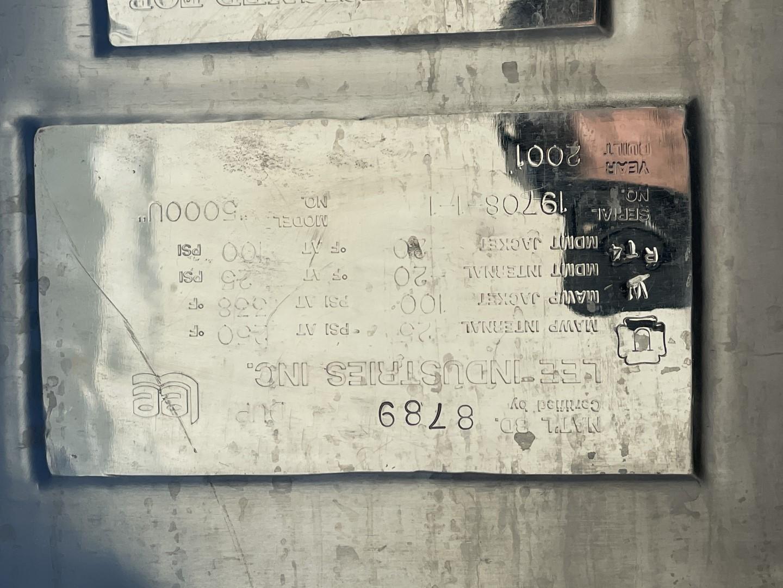 5,000 Gal Lee Reactor, 316L S/S, 25/100#, Model 5000U