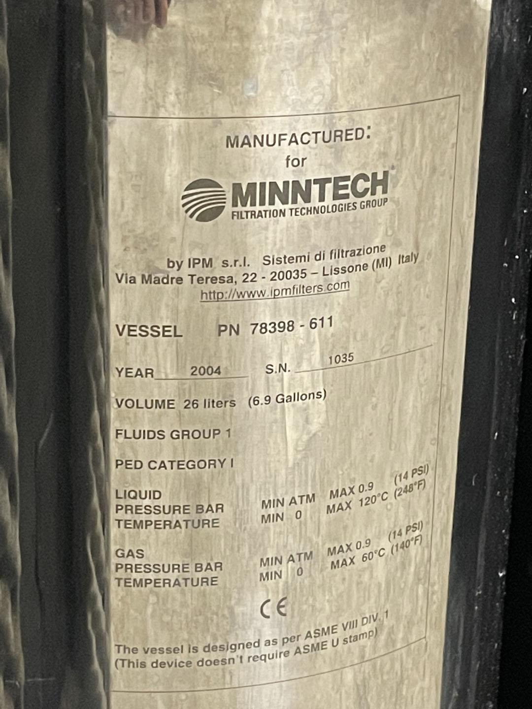 26 Liter Minntech Vessel, S/S, 14#