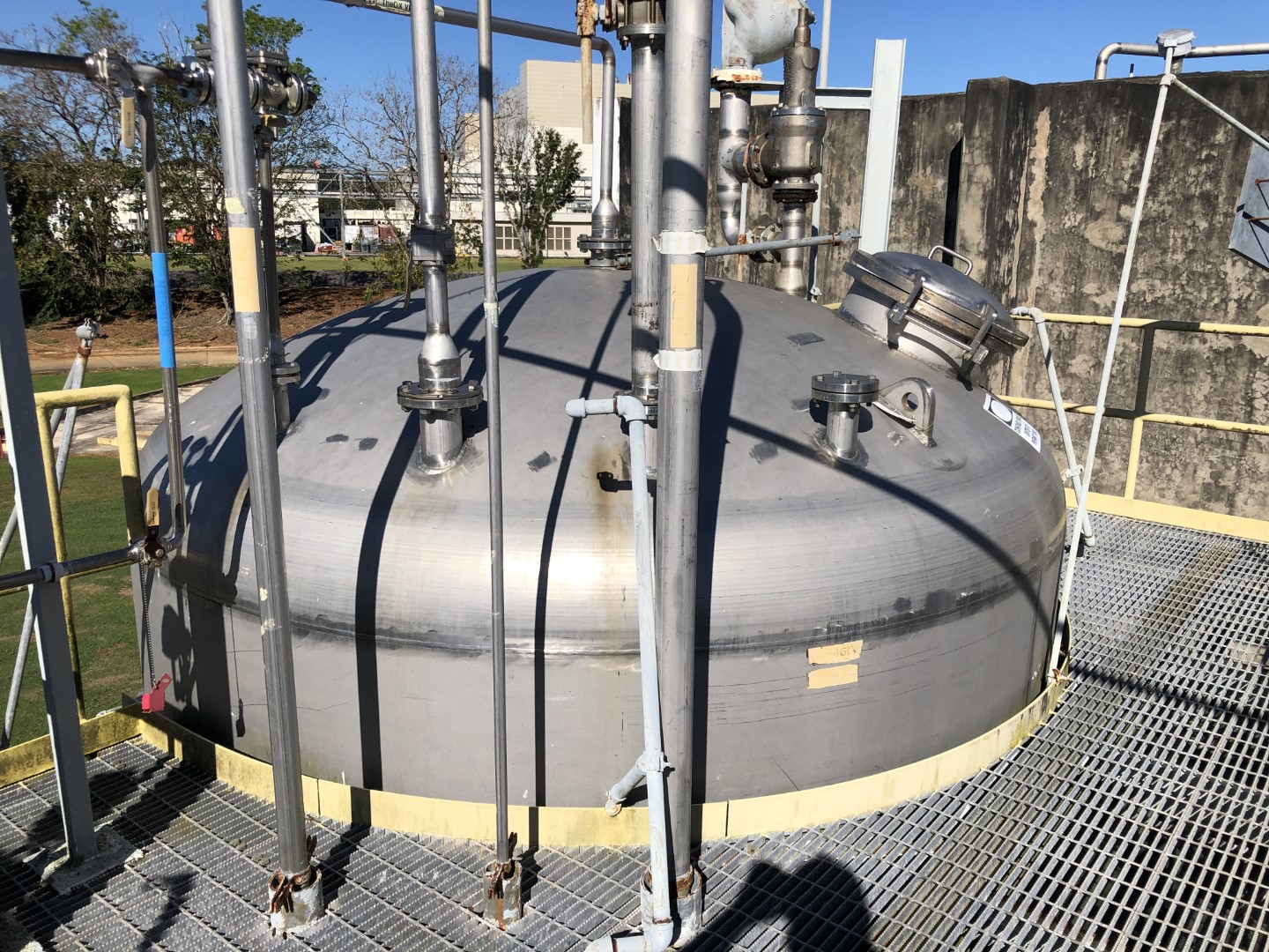 15,000 Gal Four Corp Receiver Tank, 316L S/S, 50#