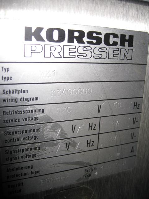 KORSCH PHARMA CHECK 1, TYPE WK1