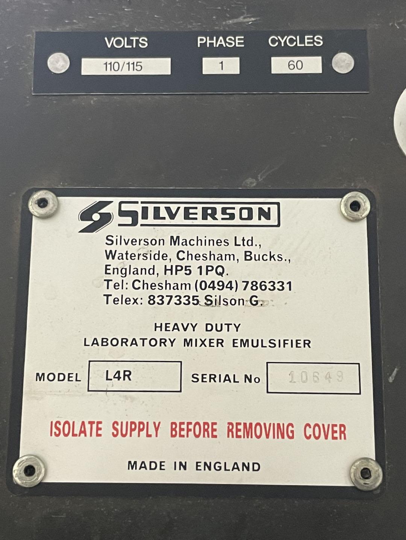 Silverson Model L4R High Sheer Homogenizer