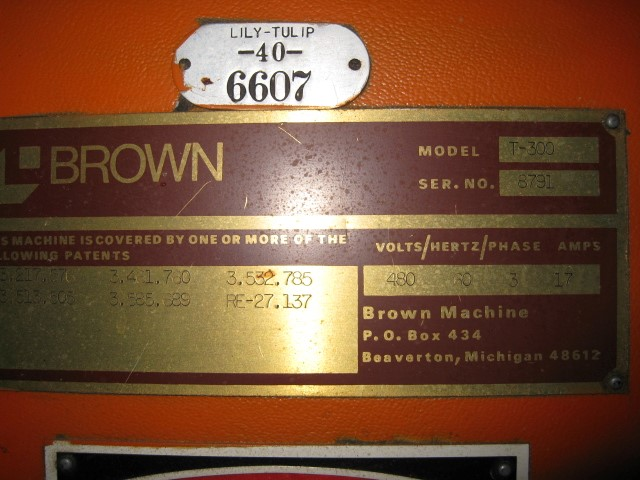 BROWN TRIM PRESS, MODEL T-300