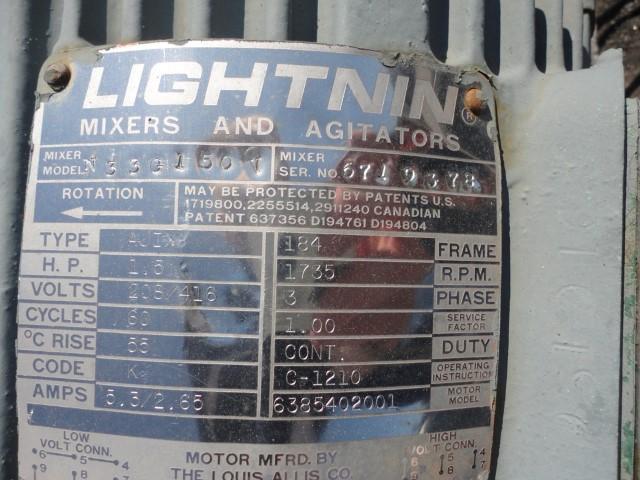 1.5 HP Lightnin Agitator, Model N33G150V