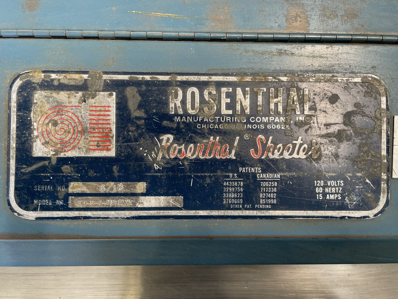 """60"""" Rosenthal Sheeter, Model WA-S-5-HUBEZVA"""
