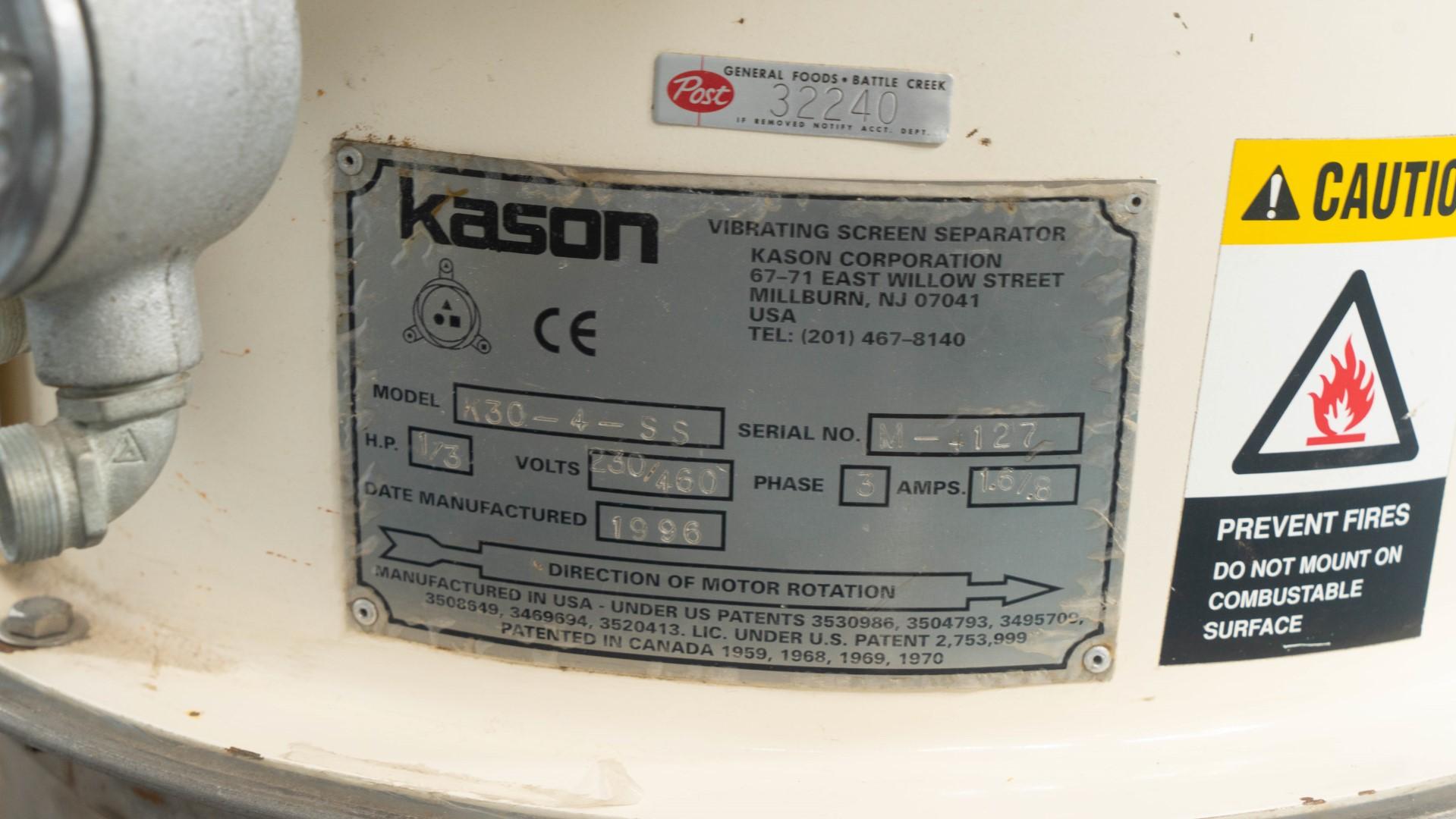 "30"" Kason Screen, S/S, 4 Deck"