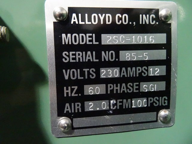 ALLOYD HEAT SEALER, MODEL 25C-1016