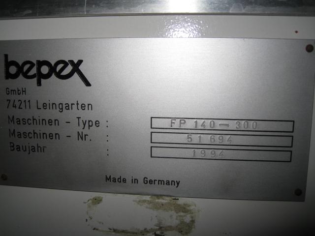 FP140-300 BEPEX EXTRUDER ROTARY BAR PRESS, S/S