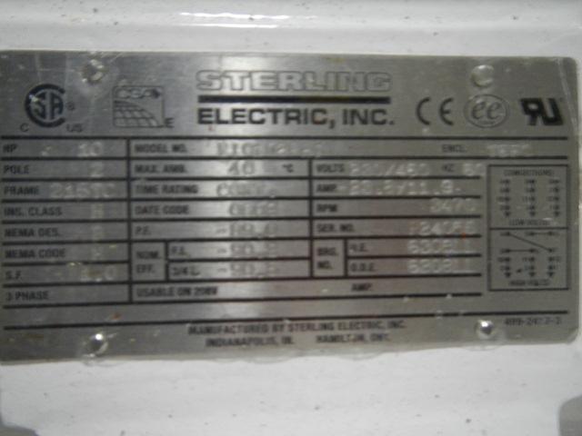 """3"""" X 2.5"""" ALFA LAVAL PUMP, S/S, 10 HP"""