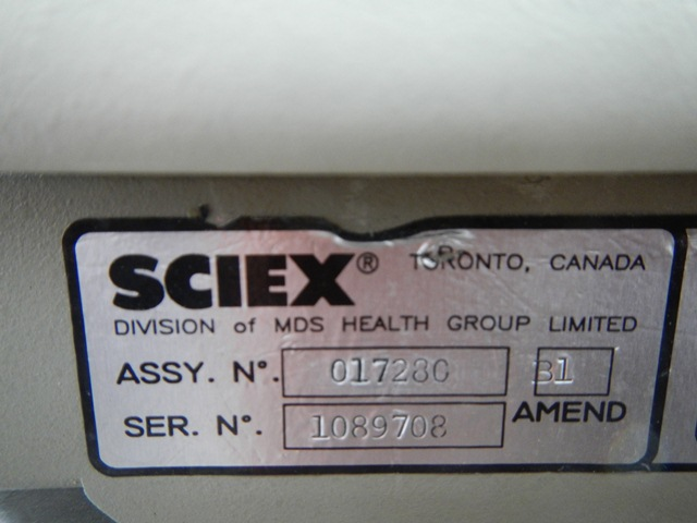 365 LCMS/MS SCIEX MASS SPECTROMETER