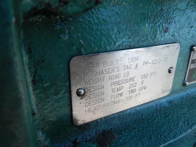 """3"""" X 1.5"""" TRI CLOVER CENTRIFUGAL PUMP, S/S, 60 HP"""