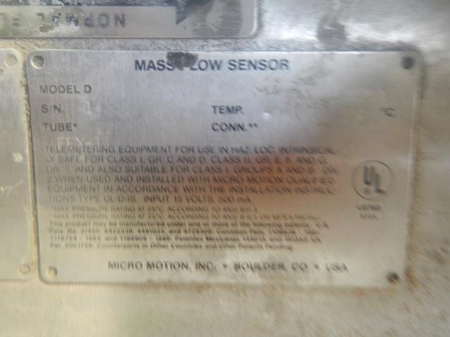 MICRO MOTION FLOW METER, S/S, MODEL DS 150