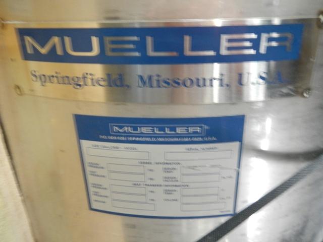 50 GAL MUELLER RECEIVER, 304L S/S, 30#