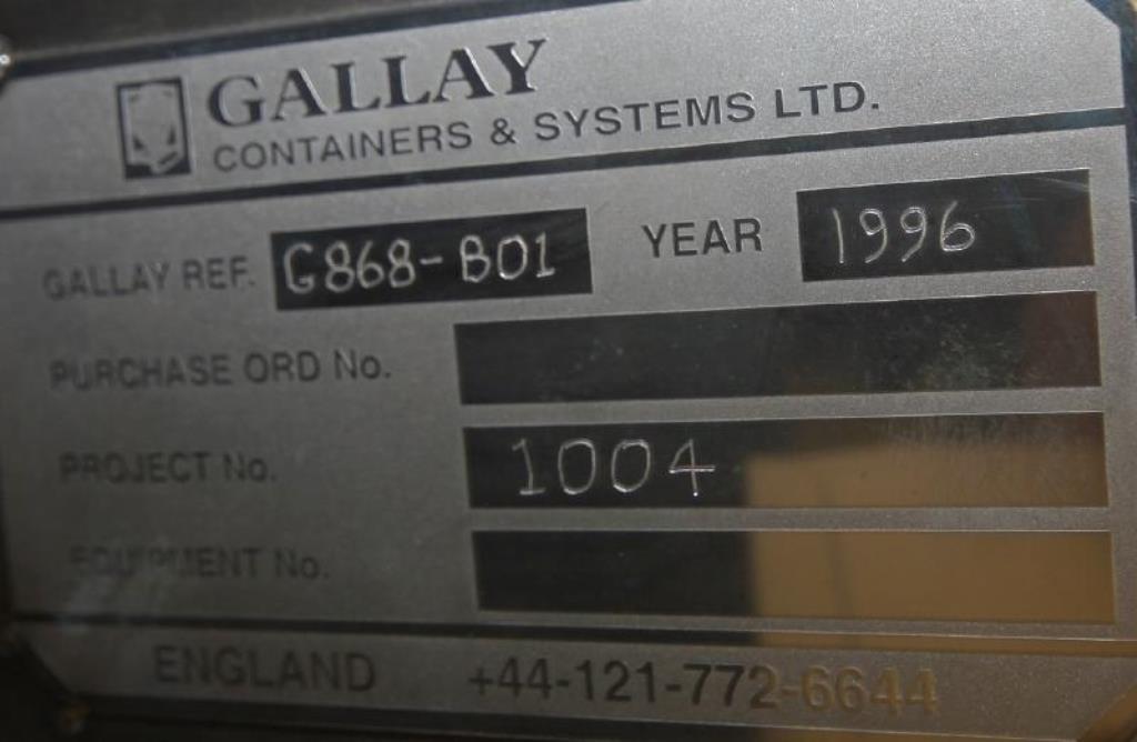 GALLAY BIN BLENDER, S/S, MODEL G868-801