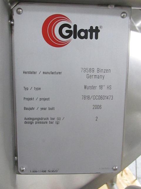 "Glatt 18"" HS Wurster Insert"