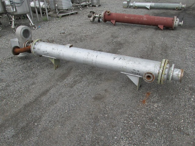 100 SQ FT AS LEITCH HEAT EXCHANGER, 304 S/S, 75/75#