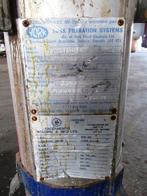 "8"" YORK BASKET FILTER, S/S, 150#"
